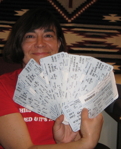 Julie with tickets